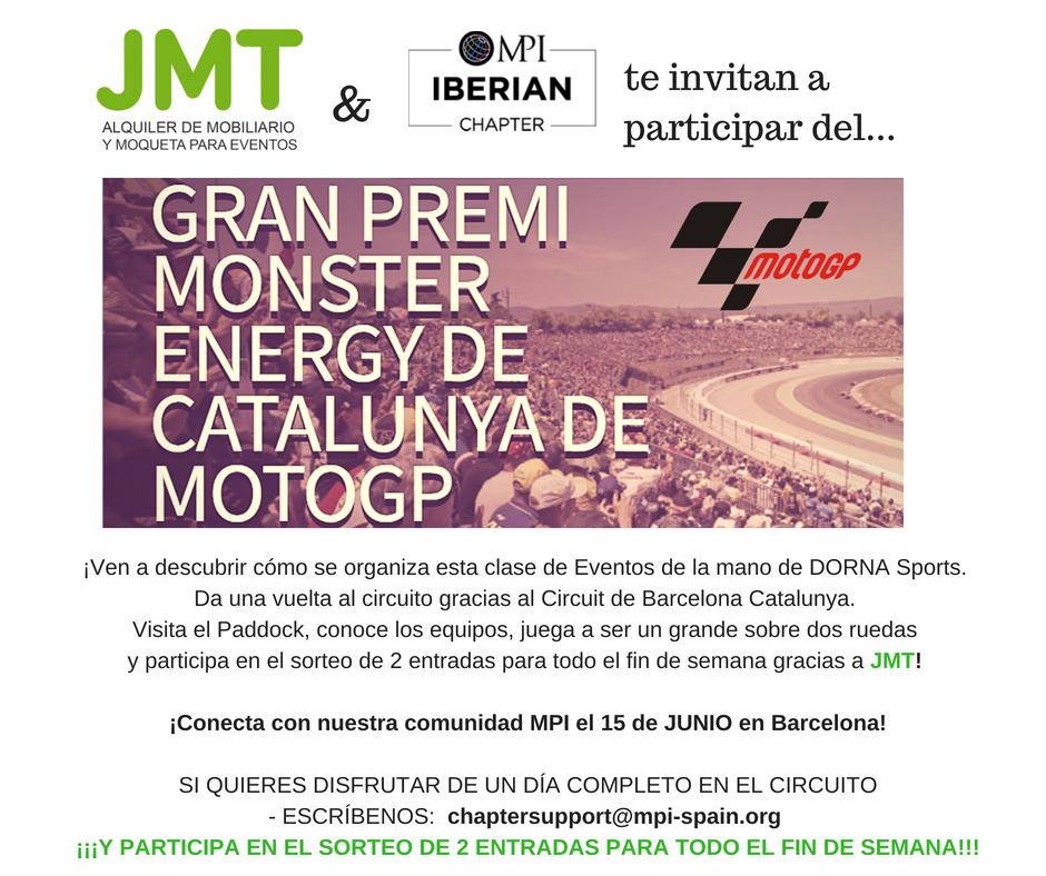 JMT & MPI Iberian Chapter te invitan a motoGP