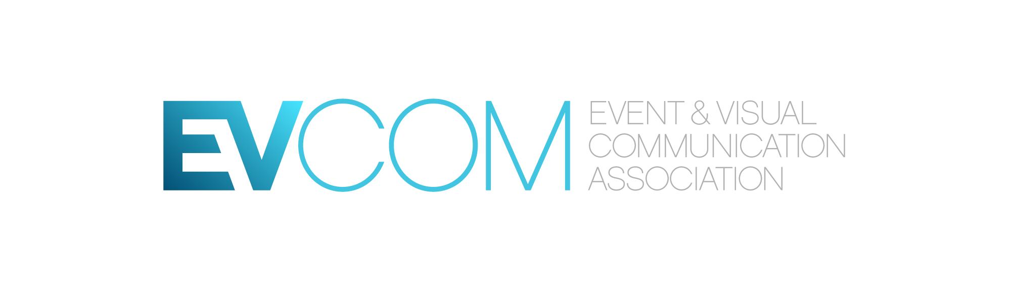 EVCOM_logo+strap_Wht