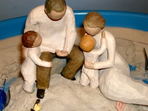 Family in Sandtray