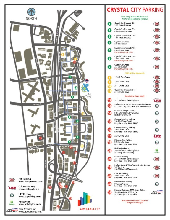 Crystal City parking map1