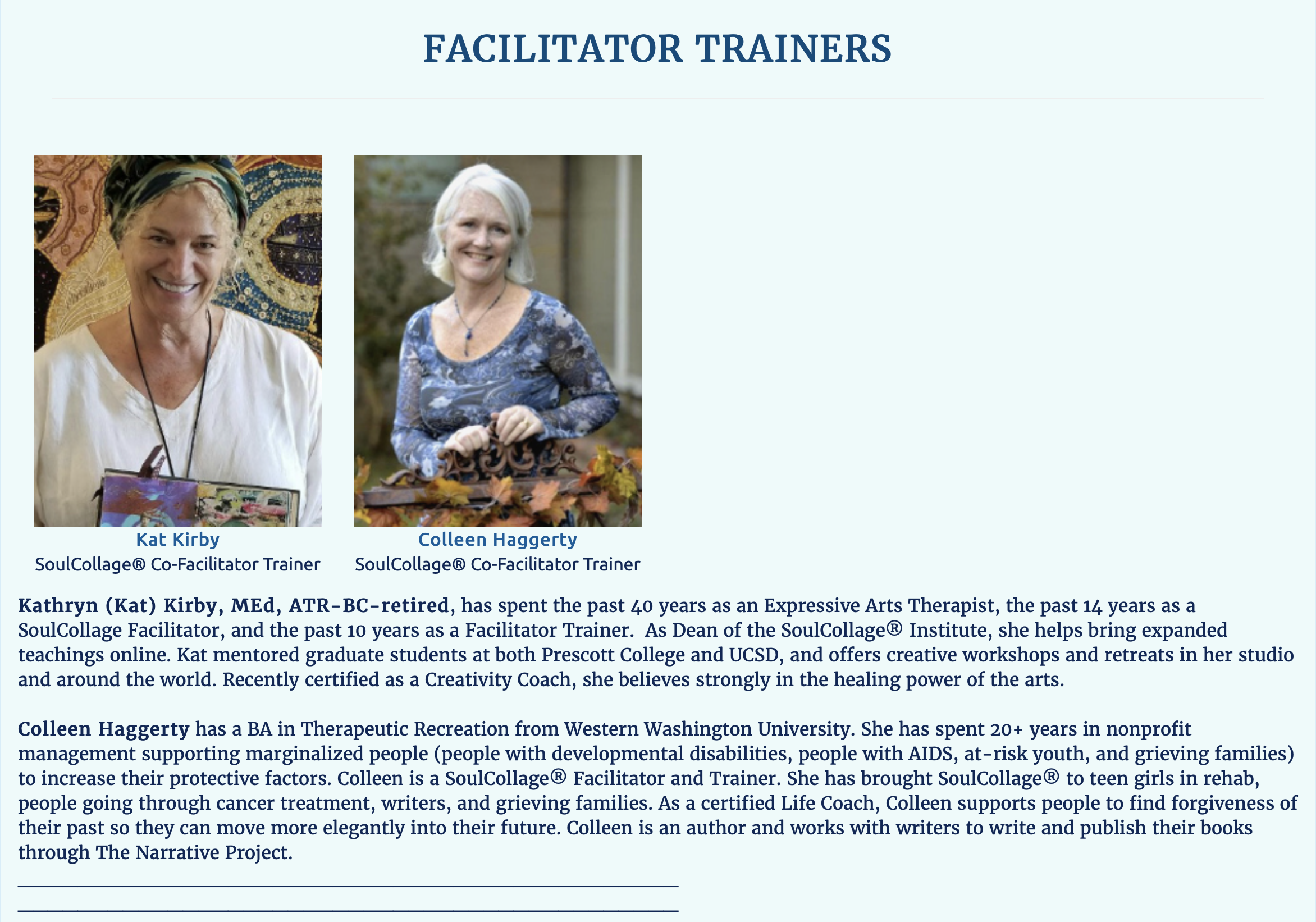 Facilitator Trainers