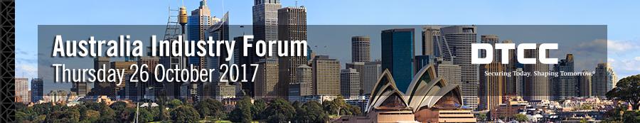DTCC Australia Industry Forum 2017