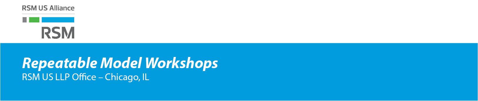 Repeatable Model Workshops