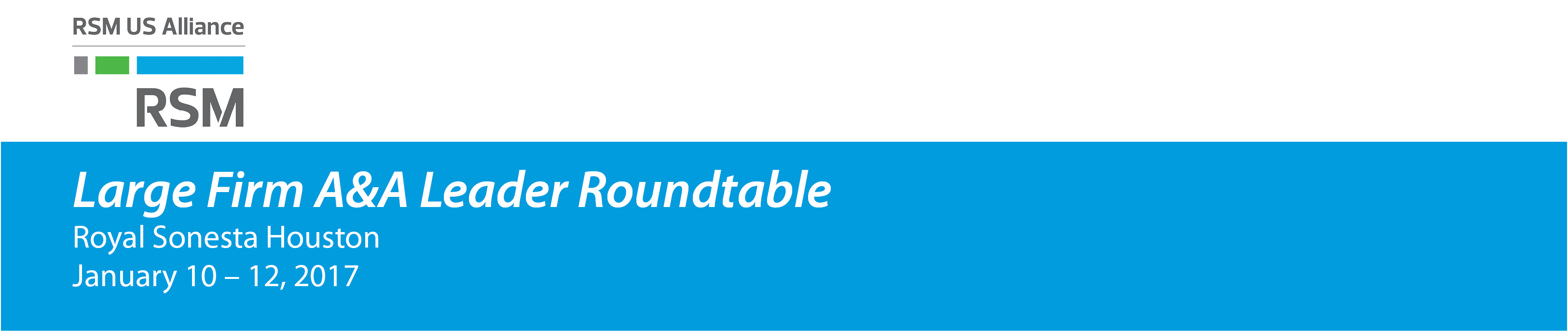 2017 Large Firm A&A Leader Roundtable