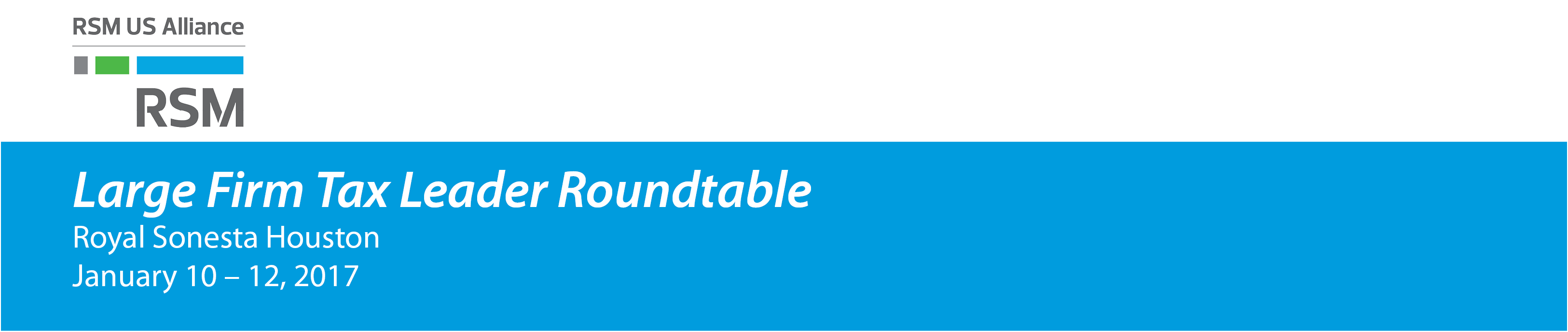 2017 Large Firm Tax Leader Roundtable