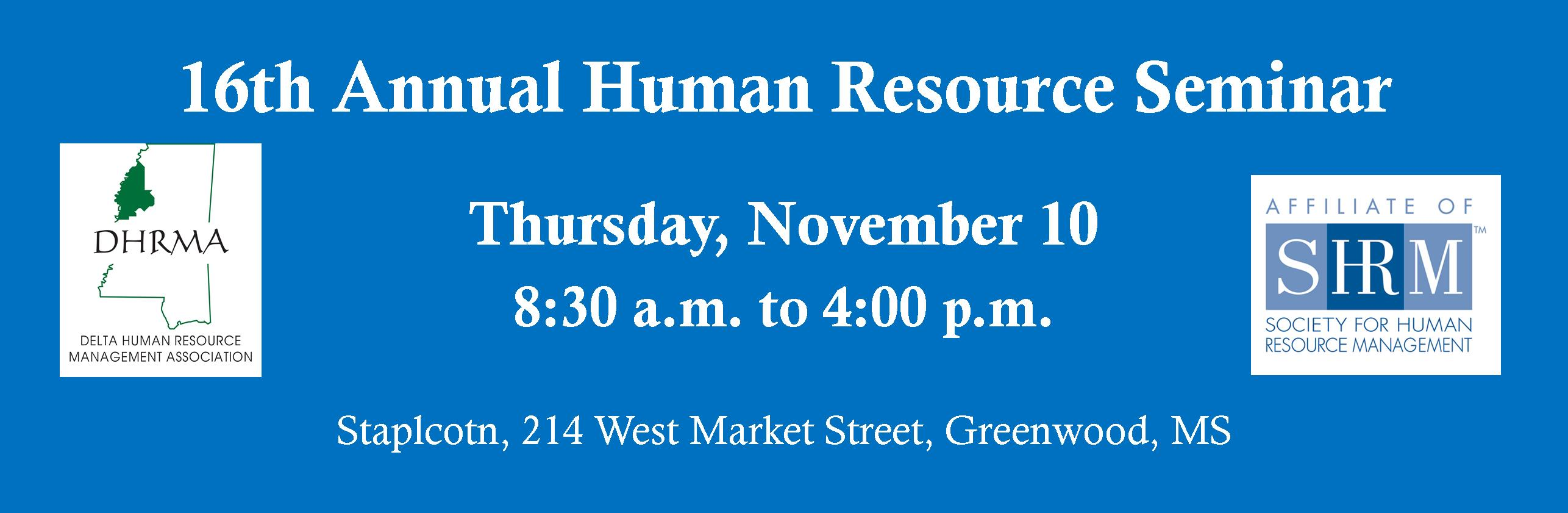 16th Annual Human Resource Seminar