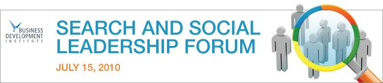 Search & Social Leadership Forum