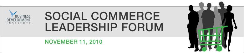 Social Commerce Leadership Forum