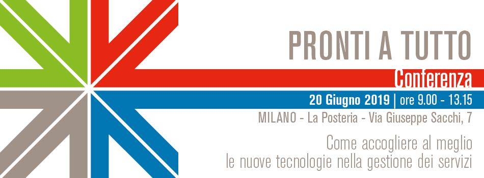 """Conferenza """"Pronti a tutto: come accogliere al meglio le nuove tecnologie nella gestione dei servizi"""""""