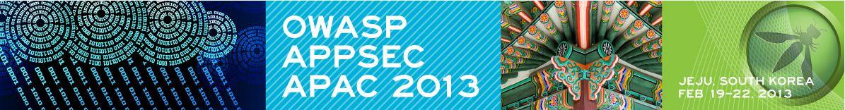 AppSec APAC 2013