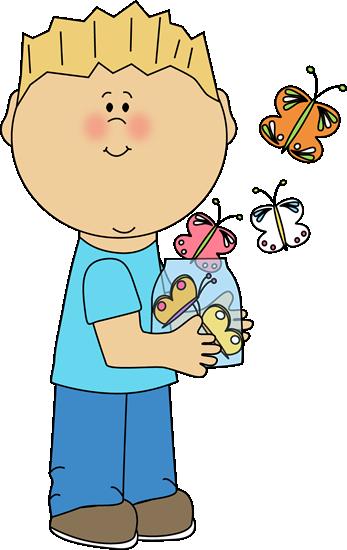 boy-releasing-spring-butterflies
