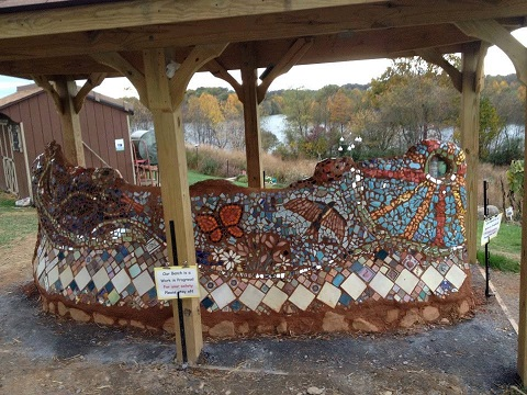 bottle brick bench workshop