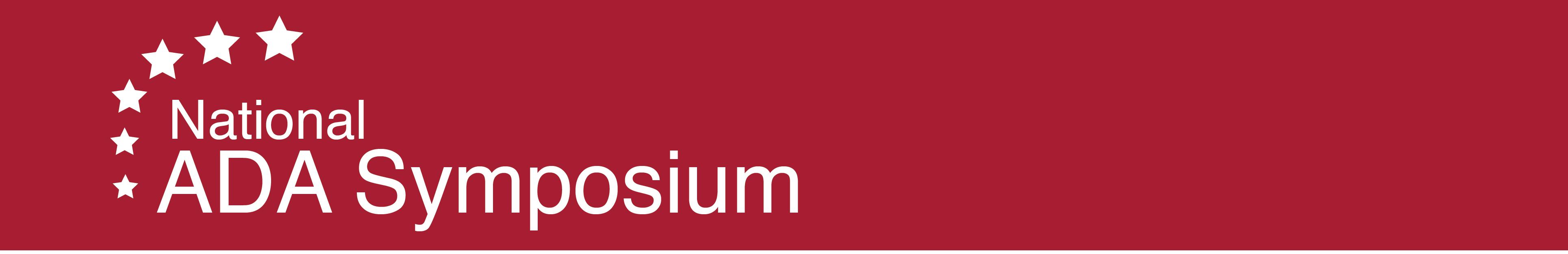 2019 National ADA Symposium