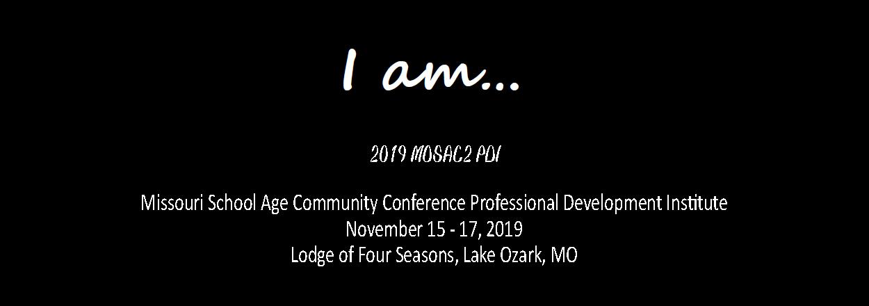 MOSAC2 Professional Development Institute 2019