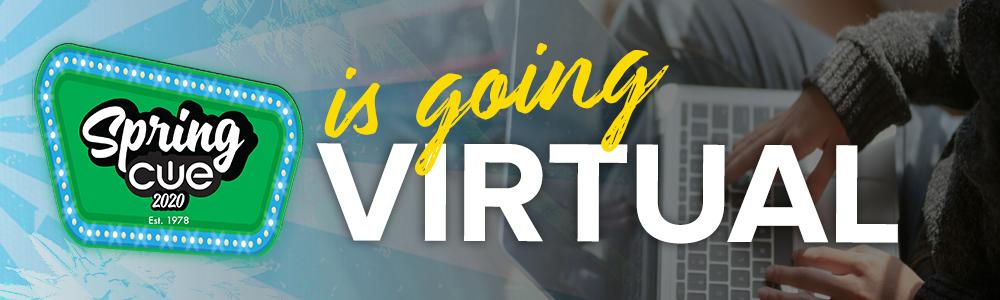 SPRING CUE virtual web banner