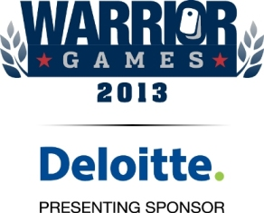 Warrior Games 2013 with Deloitte logob