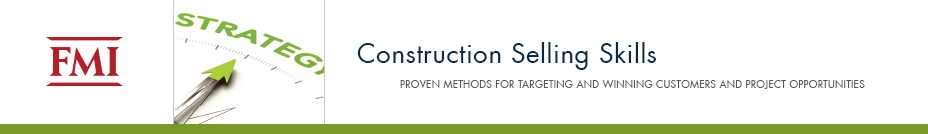 Construction Selling Skills | November 2-4, 2016 | Seattle, WA