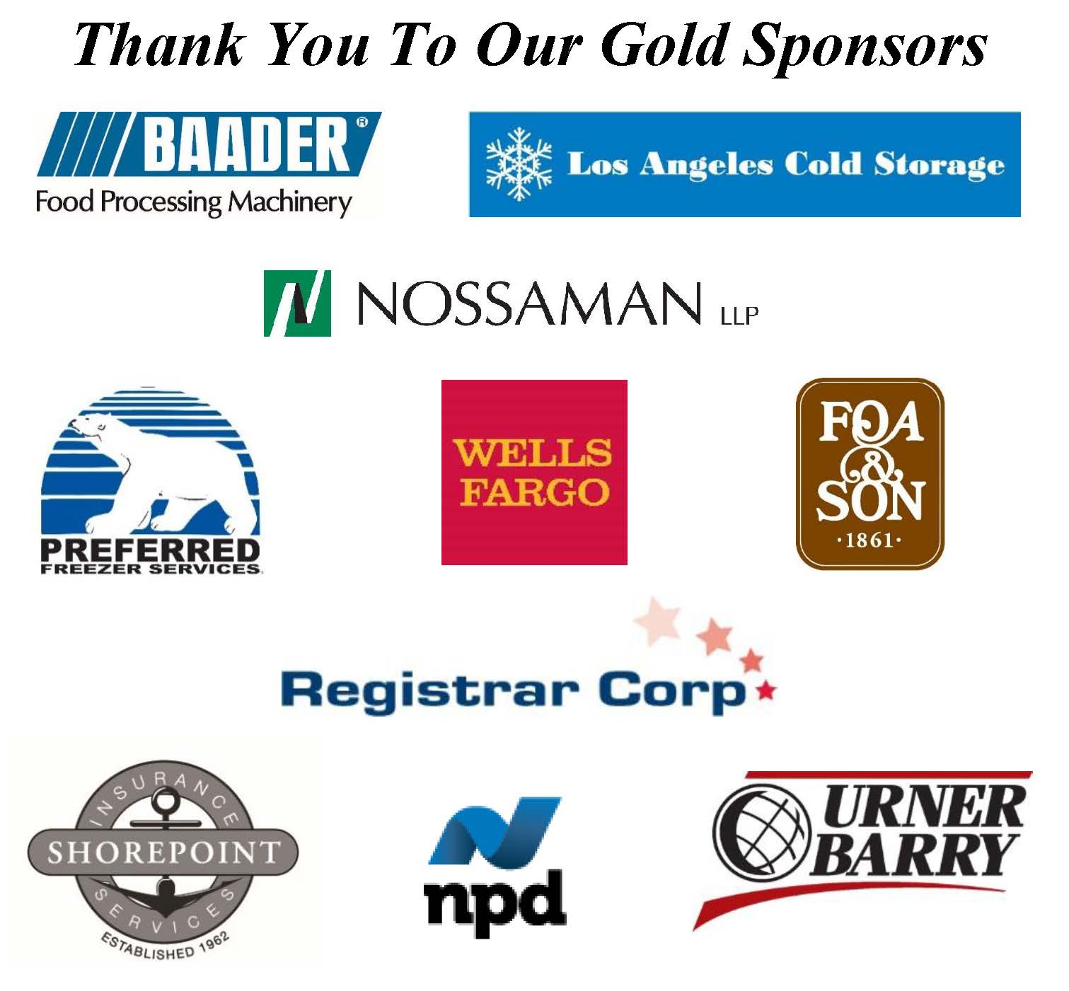 Thank you to our Gold Sponsors_2018