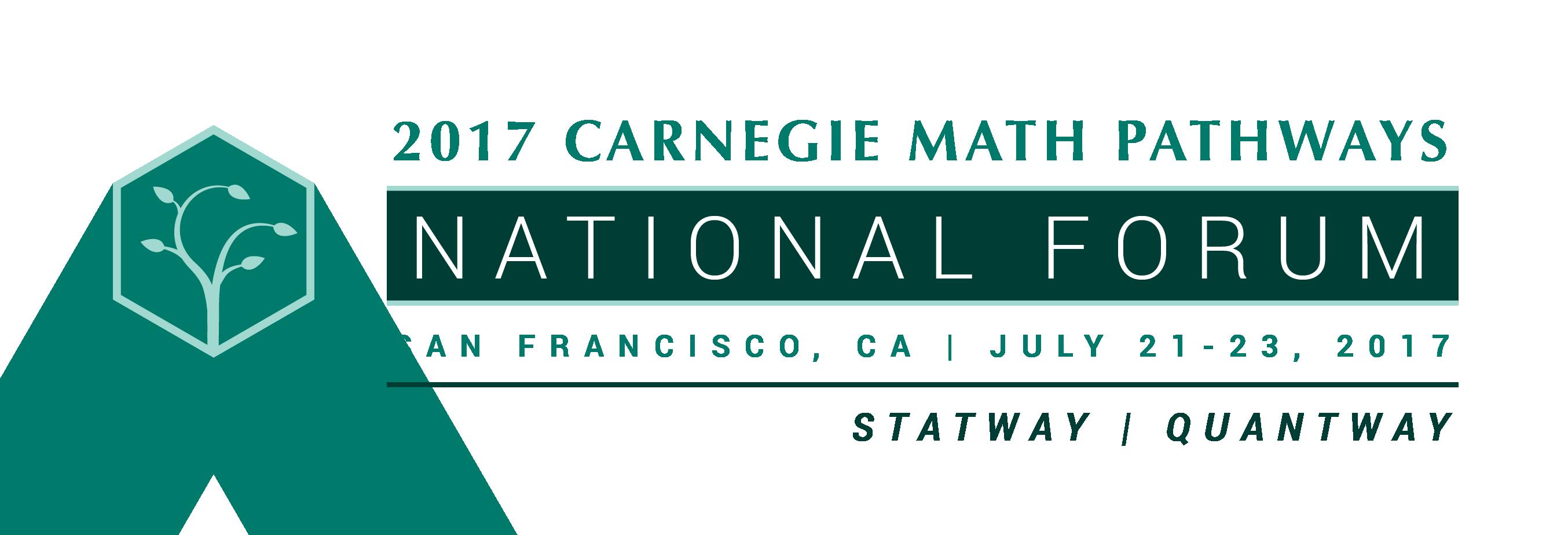2017 Carnegie Math Pathways National Forum