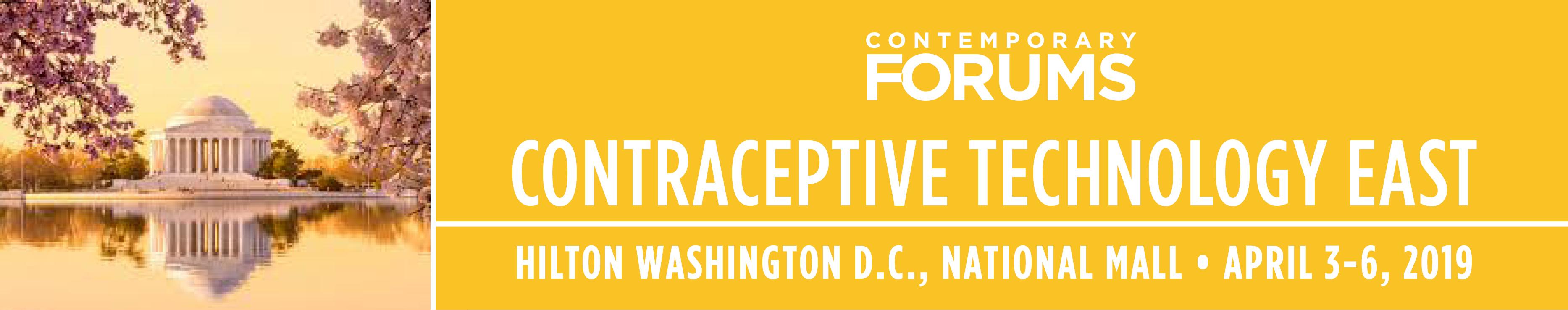 2019 Contraceptive Technology - East (April 3-6, 2019)