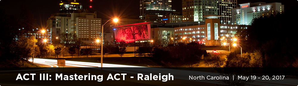 ACT III: Mastering ACT - Raleigh, NC