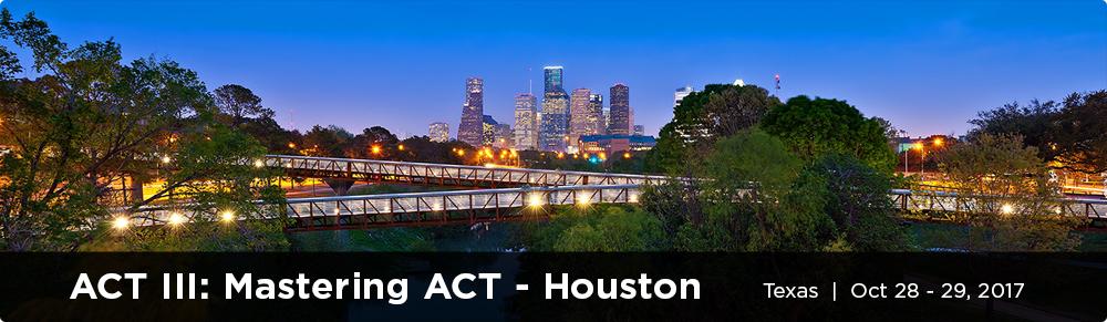 ACT III: Mastering ACT - Texas