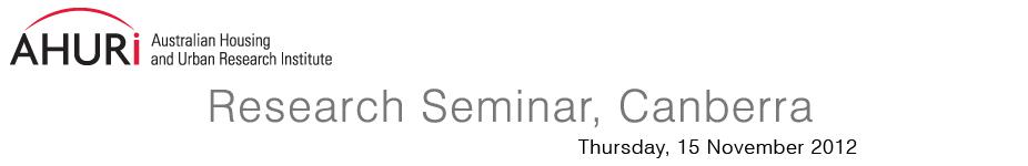 AHURI housing research seminar