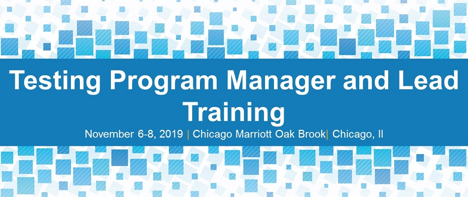 Testing Program Manager and Lead Training