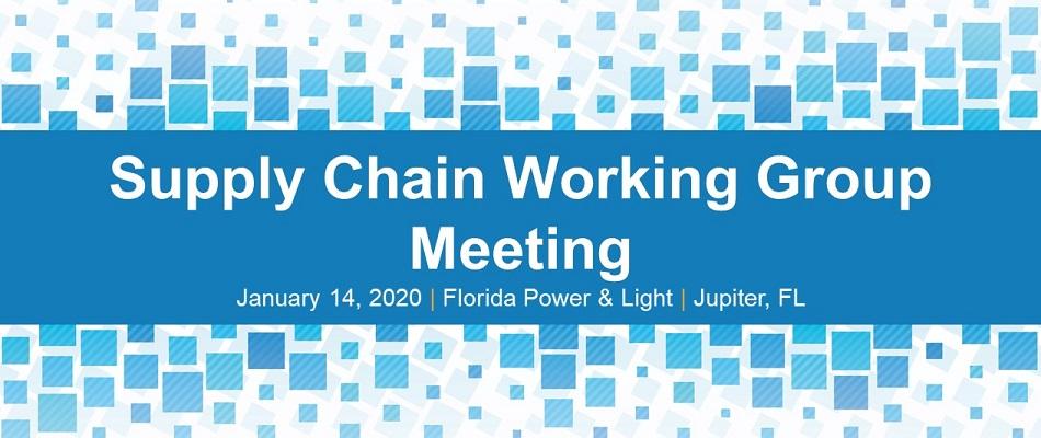 EEI Supply Chain Working Group Meeting