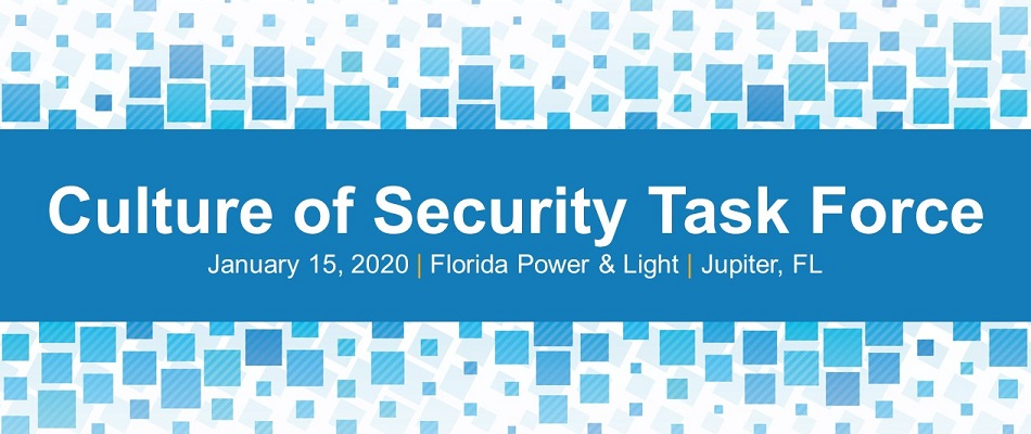 Culture of Security Task Force Meeting