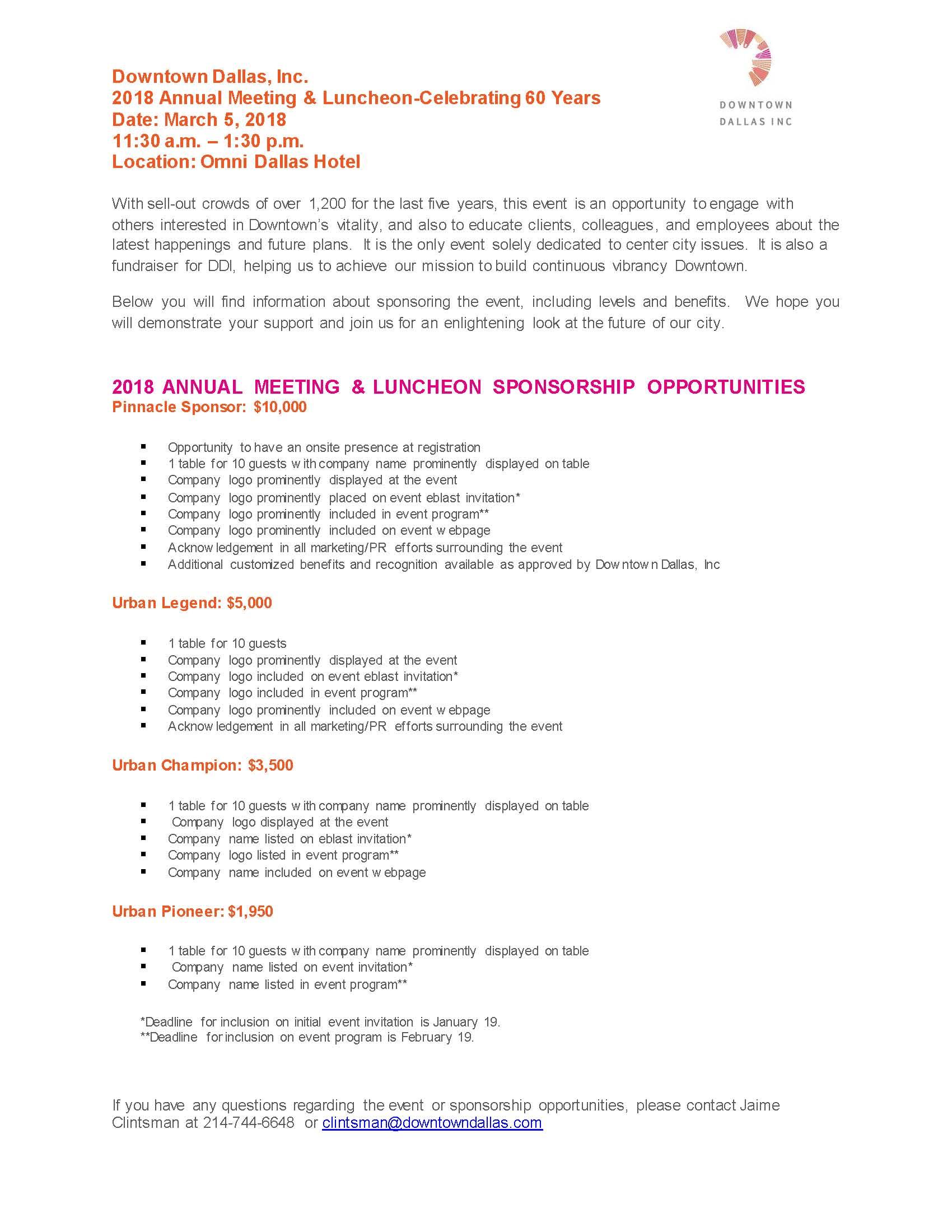 2018 DDI Annual Meeting_Sponsorship Opportunities 1918