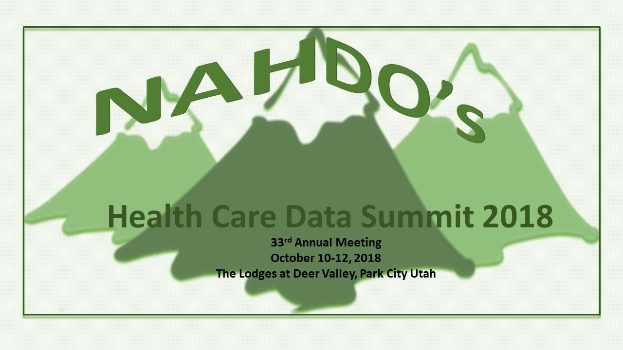 NAHDO's Health Care Data Summit 2018