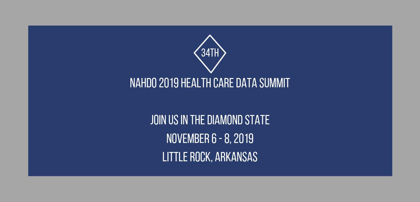 NAHDO 2019 Health Care Data Summit