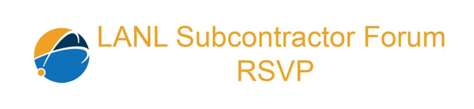 LANL Subcontractor Forum RSVP