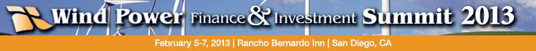 Wind Power Finance & Investment Summit 2013