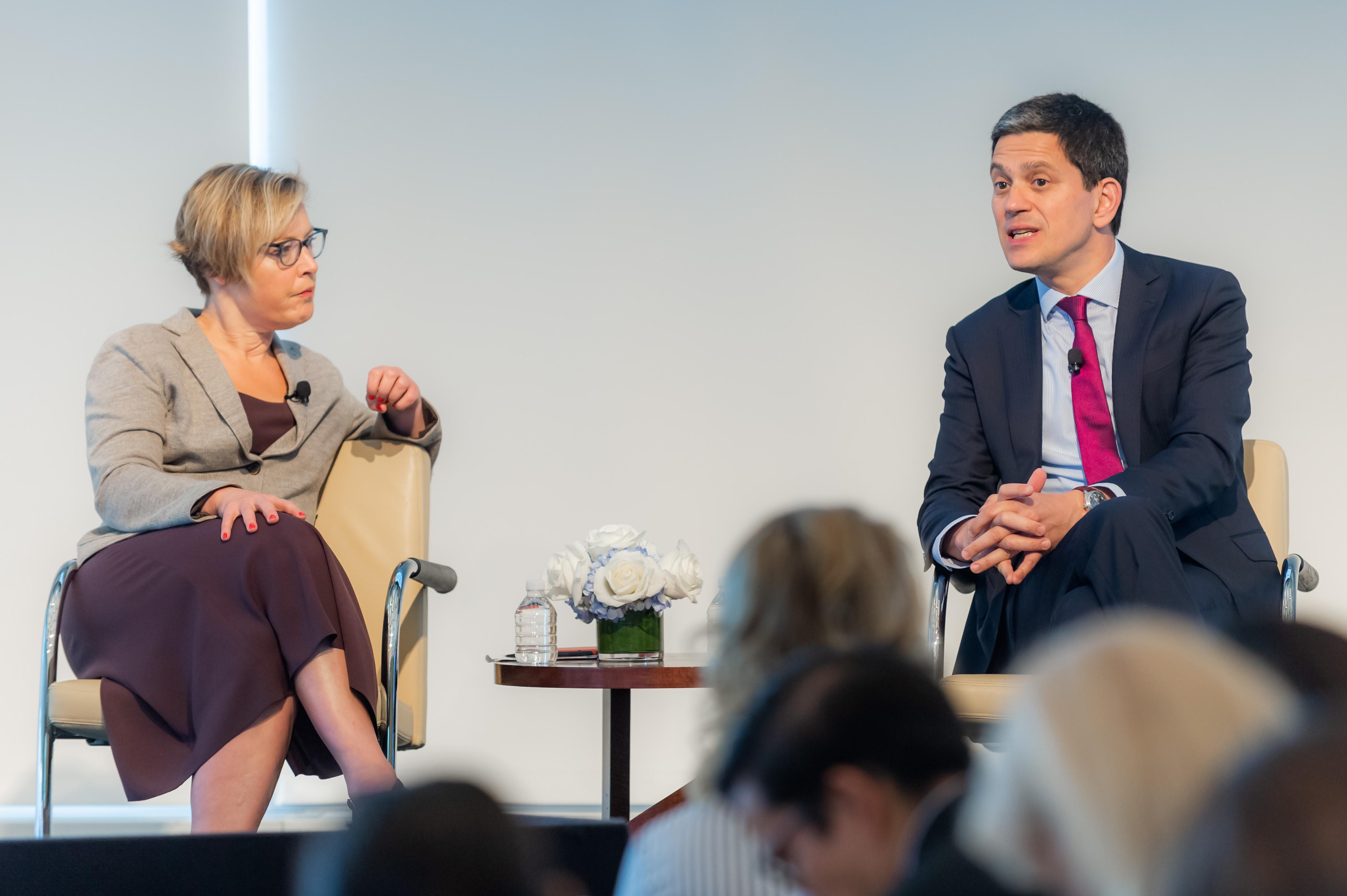 David Miliband and Gillian Tett