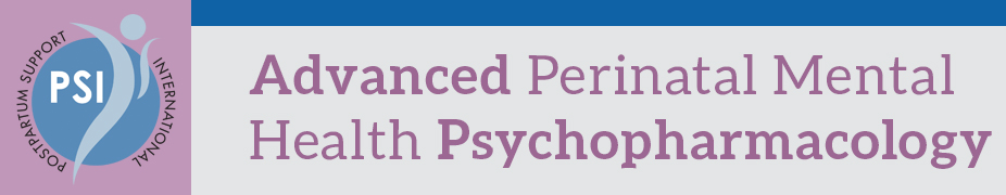 PSI's Advanced Perinatal Mental Health Psychopharmacology Training