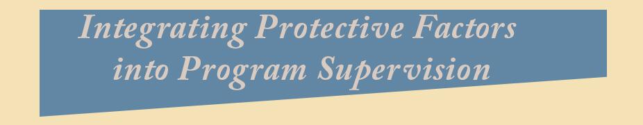 PF Program Supervision header
