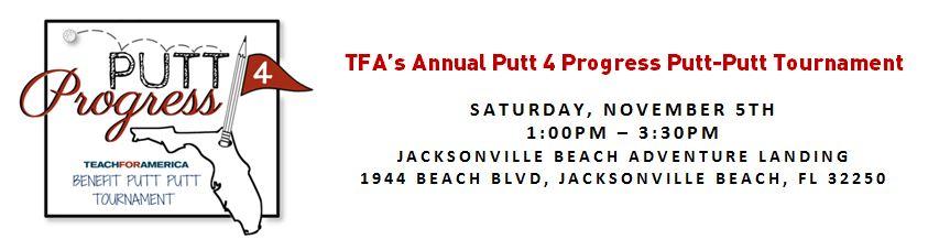 TFA Jax Second Annual Putt 4 Progress