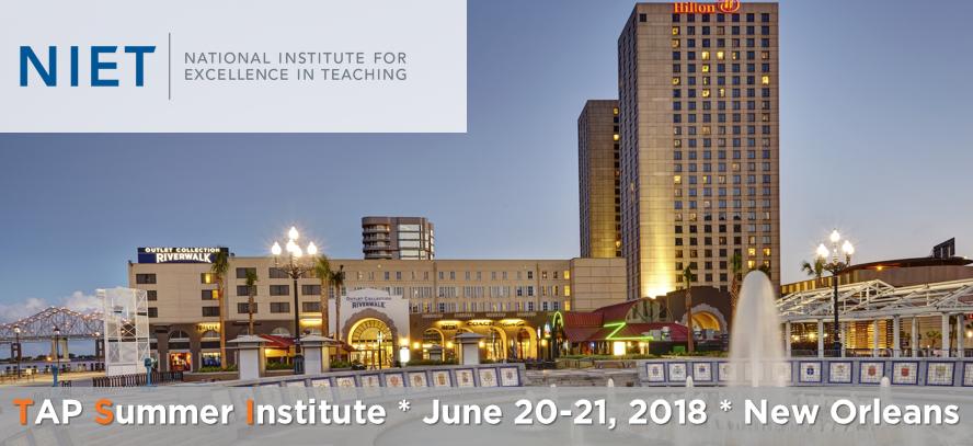 2018 TAP Summer Institute
