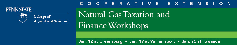 Natural Gas Taxation & Finance Workshops