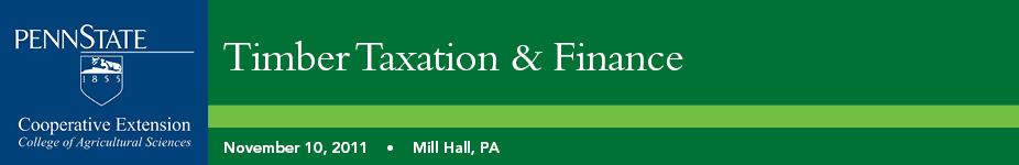 Timber Taxation & Finance