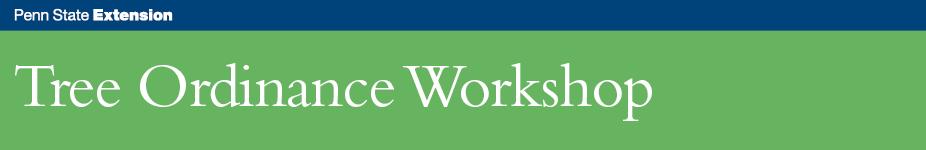 Tree Ordinance Workshop - Morgantown