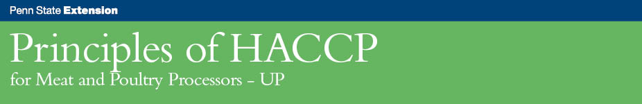 Principles of HACCP for Meat and Poultry Processors - UP
