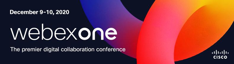 Cisco WebexOne 2020 EMEA