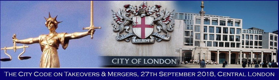 The City Code on Takeovers and Mergers 2018