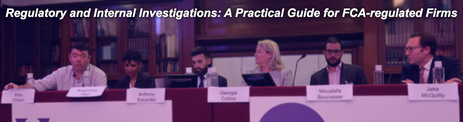 Regulatory and Internal Investigations banner past events