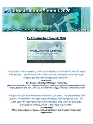 EV Infrastructure Summit 2020 testimonials