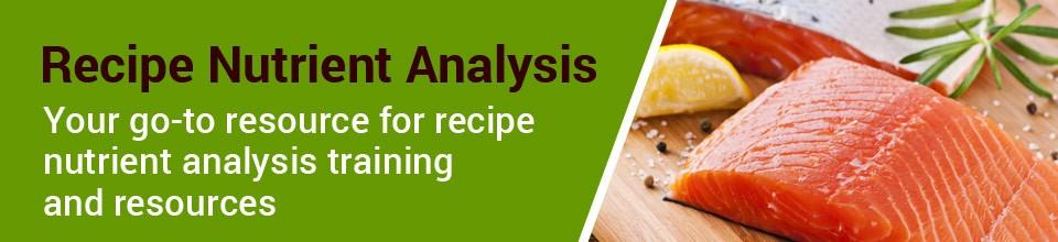 Recipe Nutrient Analysis Online Classes