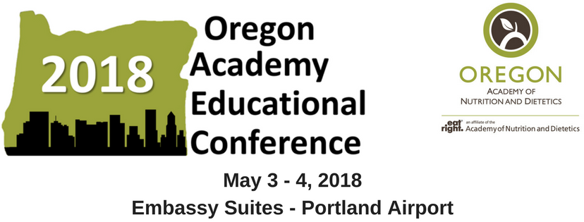 Oregon Academy of Nutrition and Dietetics - 2018 Educational Conference - Exhibitor Registration